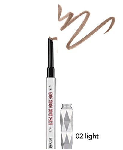 Benefit Cosmetics - benefit goof proof brow grow super easy brow filling and shaping pencil travel size - 02 Light 0.11 g / 0.003 oz by Benefit Cosmetics