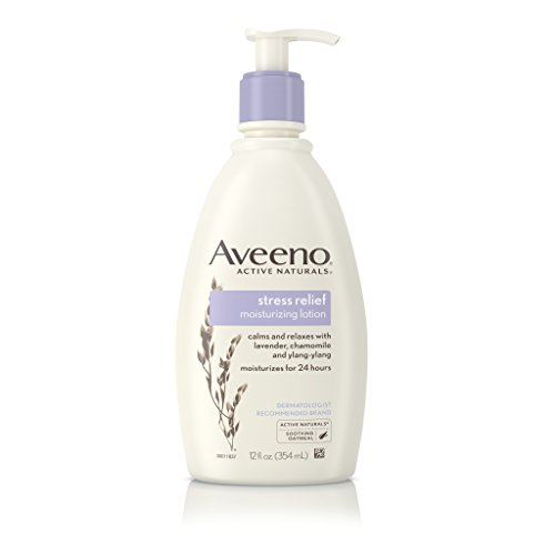 Aveeno - Aveeno Stress Relief Moisturizing Body Lotion with Lavender, Natural Oatmeal and Chamomile & Ylang-Ylang Essential Oils to Calm & Relax, 12 fl. oz