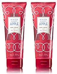 BATH & BODY WORK - Bath and Body Works Winter Candy Apple Body Cream 8 Ounce Set of 2 Winter Collection 2018