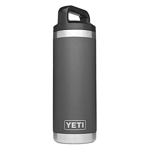 YETI - YETI Rambler 18 oz Stainless Steel Vacuum Insulated Bottle with Cap, Charcoal