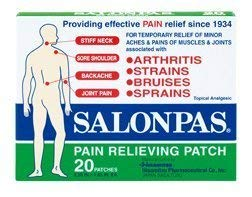 Salonpas - Salonpas Pain Relieving Patch, 2.56 In. x 1.65 In., 20 ea ( Multi-Pack) by Salonpas