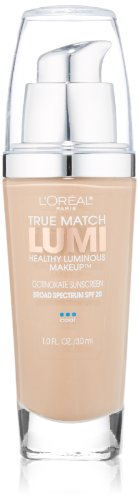L'Oreal Paris - L'Oréal Paris True Match Lumi Healthy Luminous Makeup, C3 Creamy Natural, 1 fl. oz.