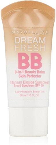 Maybelline New York - Maybelline Dream Fresh BB 8-in-1 Beauty Balm Skin Perfector SPF 30, Light/Medium, 1 oz (Pack of 5)