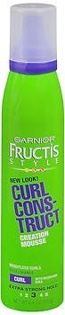 Garnier Fructis Style Curl Construct Creation Mousse Extra Strong Hold