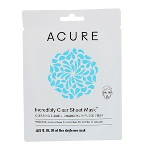 Acure Acure, Mask Sheet Incredibly Clear, 0.676 Fl Oz