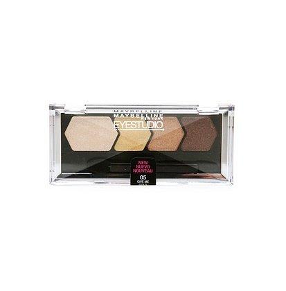 Maybelline New York - Maybelline EyeStudio Color Plush Silk Eyeshadow Quad, Give Me Gold [05] 0.09 oz