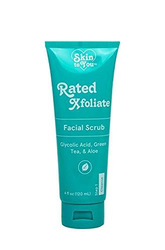 You Sun - Skin to You Rated X-foliate Facial Scrub, Green Tea & Aloe, 4 fl oz (Pack of 2)