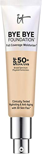It Cosmetics - IT Cosmetics Bye Bye Foundation Full Coverage Moisturizer with SPF 50+: Light Med - 1 oz-30 ml