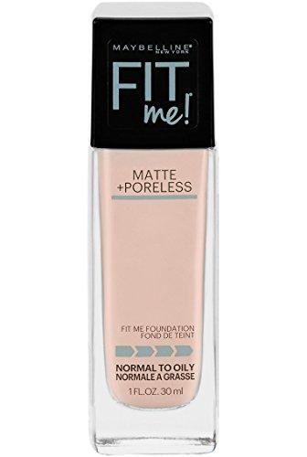 Maybelline New York - Maybelline Fit Me Matte + Poreless Liquid Foundation Makeup, Fair Ivory, 1 fl. oz. Oil-Free Foundation