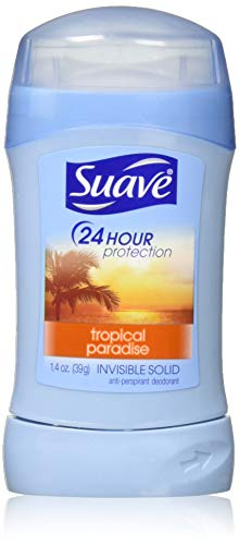 Suave - Suave Deodorant 1.4 Ounce 24Hr Tropical Prdse Invisible Solid (41ml) (3 Pack)