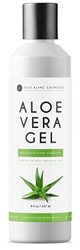 Kate Blanc Cosmetics - Aloe Vera Gel (8oz) by Kate Blanc. Organic, Pure, Cold Pressed. Heals Small Cuts. Relieves Sunburn, Itchy Bug Bites, Rashes, Dry Scalp, Irritated Skin, Acne, Psoriasis. DIY Hand Sanitizers.