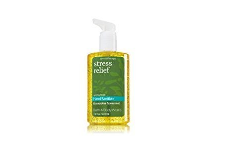 Bath & Body Works - Bath & Body Works Eucalyptus Spearmint Aromatherapy Stress Relief Full Size Hand Sanitizer Anti-bacterial Gel 7.6 fl oz