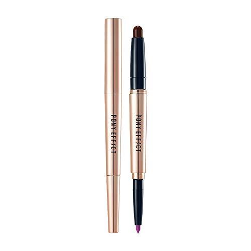 Pony Effect PONY EFFECT Contour Lip Color #Adviser (Purple + Orchid) 1.4g, 0.64 Ounces, Lip pencil & Lipstick, Dual lipstick, Contoured lip duo, Long-lasting formula, Ombre color