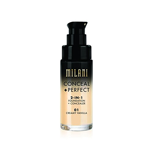 Milani - Milani Conceal + Perfect 2-in-1 Foundation Concealer, Vanilla, 1.0 Fluid Ounce