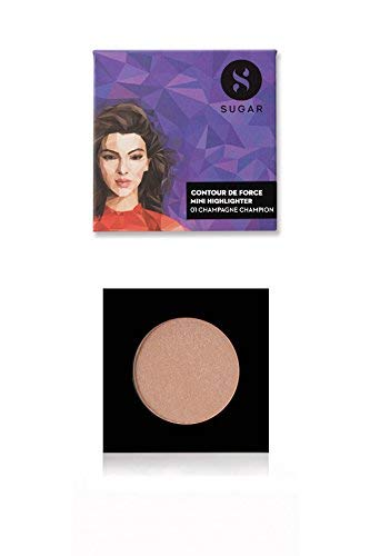 SUGAR Cosmetics - SUGAR Cosmetics Contour De Force Mini Highlighter 01 Champagne Champion (Champagne Gold), 4 g