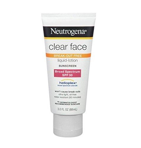 Neutrogena - Neutrogena Clear Face Break-Out Free Liquid-Lotion Sunscreen SPF 30 3 oz
