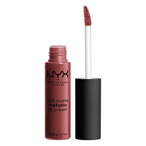 NYX NYX PROFESSIONAL MAKEUP Soft Matte Metallic Lip Cream, Rome, 0.22 Ounce