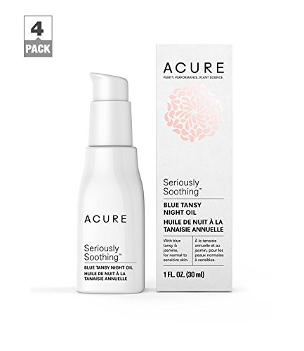 Acure - Acure Seriously Soothing Blue Tansy Night Oil, 1 OZ, Pack-4