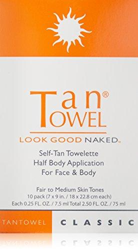 Tan Towel Tan Towel Self Tan Towelette Classic, 10 Count