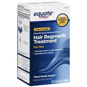 Equate - Equate - Hair Regrowth Treatment for Men with Minoxidil 5% Extra Strength, 3 Month Supply, 2 Ounce Bottle, 3 Count