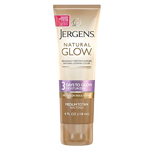 Jergens - Jergens Natural Glow 3 Days to Glow Moisturizer for Body, Medium to Tan Skin Tones, 4 Ounces
