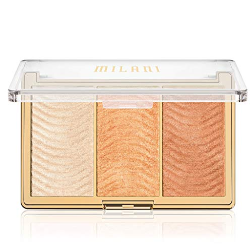 Milani Milani Stellar Lights Highlighter Palette - Rose Glow (.42 Ounce) 3 Vegan, Cruelty-Free Face Powders that Contour & Highlight for a Glowing Look