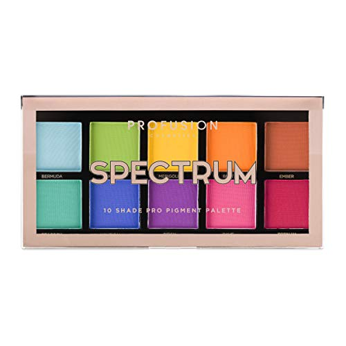 Profusion Cosmetics - Mini Artistry 10 Shade Eyeshadow Palette, Spectrum