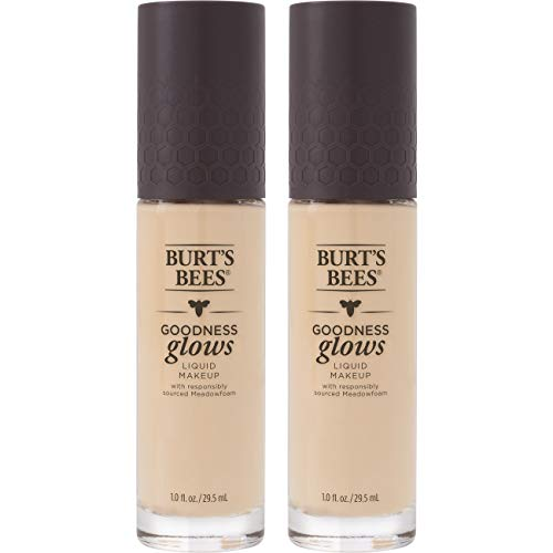 Burt's Bees - Burt's Bees Goodness Glows Liquid Foundation, Ivory, 1.0 Ounce, Pack of 2