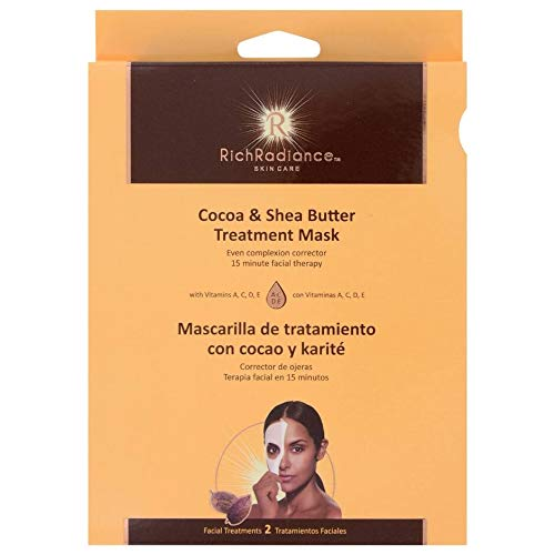 null - Cocoa & Shea Butter Treatment Facial Mask by RichRadiance Skin Care (2 Pack)