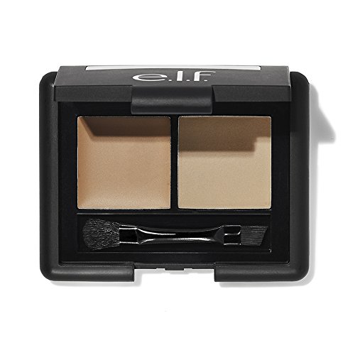 e.l.f. Cosmetics - e.l.f. Cosmetics Studio Eyebrow Kit Brow Powder and Wax Duo for More Defined Eyebrows, Brush Included, Light Tint