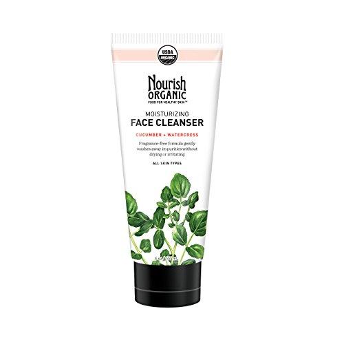 Nourish Organic - Moisturizing Face Cleanser, Cucumber & Watercress