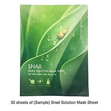Nature Republic Nature Republic SNAIL Solution Sample Mask Sheets 30pcs Low Price Value Pack