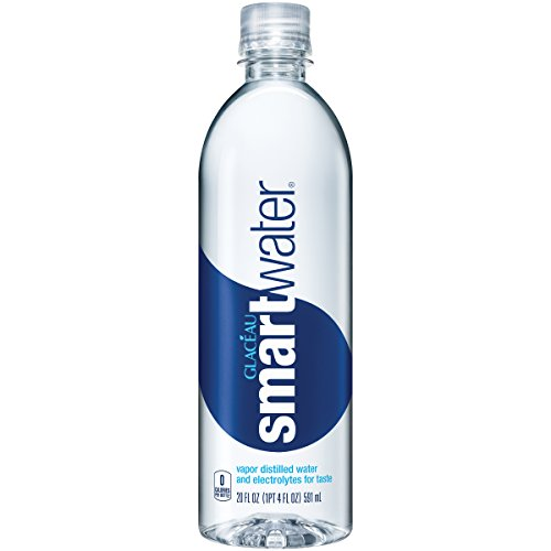 smartwater - smartwater vapor distilled premium water bottle, 20 fl oz