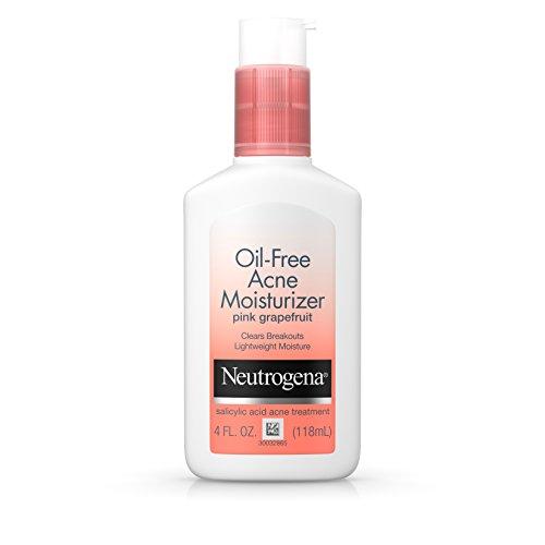 Neutrogena - Neutrogena Oil-Free Facial Moisturizer for Acne with Salicylic Acid Acne Treatment, Non-Comedogenic with Pink Grapefruit Scent, 4 fl. oz