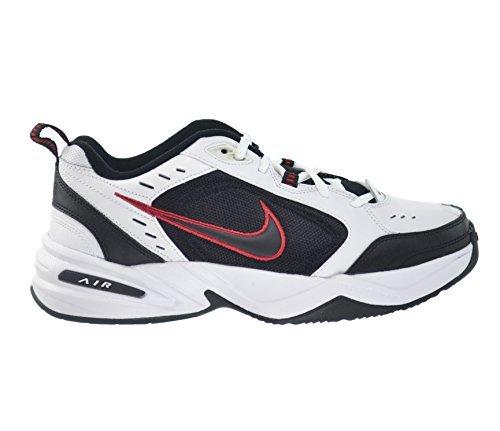 NIKE Nike Air Monarch IV Men's Shoes White/Black-Varsity Red 415445-101 (10 D(M) US)