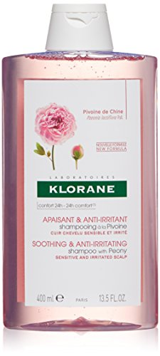 Klorane Klorane Shampoo with Peony, Soothing Relief for Dry Itchy Flaky Scalp, pH Balanced, Paraben, Silicone, SLS Free