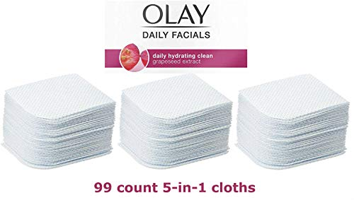 Olay - Olay Daily Facial 5-in-1 Water Activated Facial Cleansing Cloths 99ct