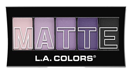 L.A. COLORS - L.A. Colors 5 Color Matte Eyeshadow, Purple Cashmere, 0.08 Ounce