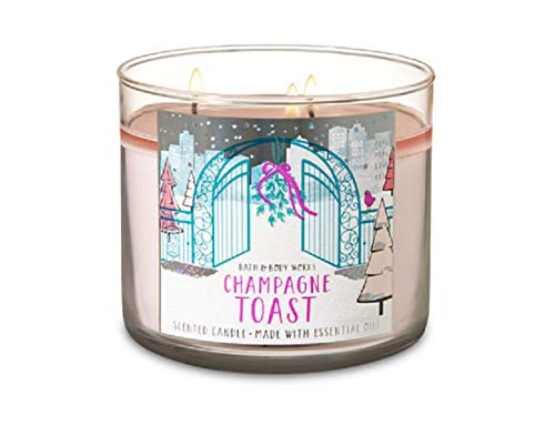 Bath & Body Works - Bath and Body Works CHAMPAGNE TOAST 3 Wick Candle 2018 Holiday Collection