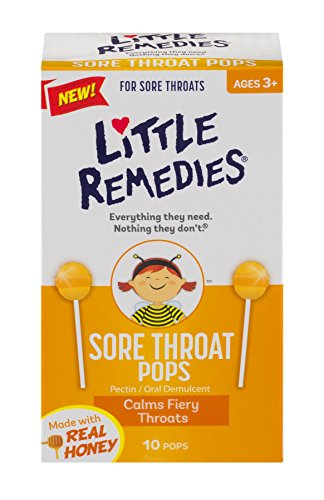 Little Remedies - Little Remedies Sore Throat Pops with Real Honey for Kids 3+ | Soothing Pops that Calms Fiery Throats