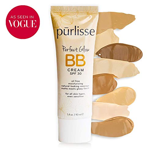 Purlisse purlisse Perfect Glow BB Cream SPF 30 - BB Cream for All Skin Types - Smooths Skin Texture, Evens Skin Tone - Light Medium, 1.4 Ounce