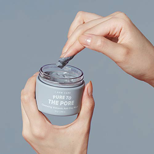 I DEW CARE - I Dew Care Magic Clay Mud Mask #PURE TO THE PORE 2.46 Ounces, Pore cleansing jeju volcanic, Ash clay, Deeply cleanses pores, naturally dewy skin, Wash-off mud mask, Softens skin, Facial healing mask
