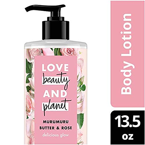 Love Beauty & Planet Murumuru Butter & Rose Body Lotion, Delicious Glow