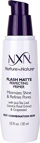 Nurture by Nature NxN Flash Matte Pore Refining Primer Transforms Skin Into Perfect Canvas Natural Formula for Oily/Combination Skin, 1 Fl Oz