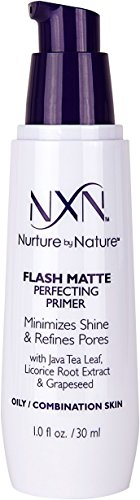 Nurture by Nature - NxN Flash Matte Pore Refining Primer Transforms Skin Into Perfect Canvas Natural Formula for Oily/Combination Skin, 1 Fl Oz