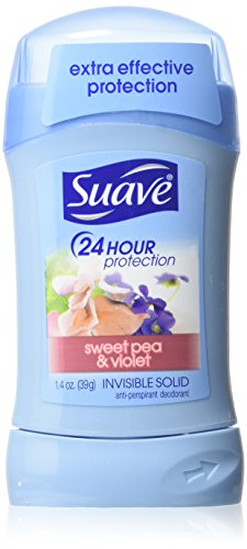 Suave - Suave Deodorant 1.4 Ounce 24Hr Sweet Pea/Violet Invisible Solid (41ml) (6 Pack)