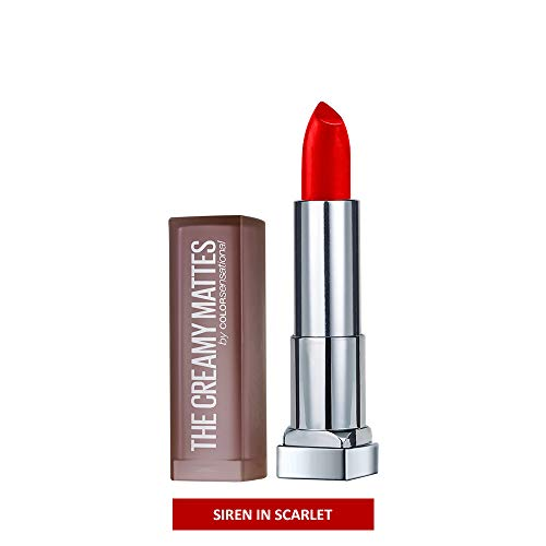 Maybelline New York - Maybelline New York Color Sensational Red Lipstick Matte Lipstick, Siren in Scarlet, 0.15 oz