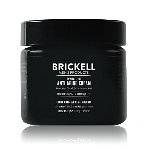 Brickell Men's Products - Brickell Men's Revitalizing Anti-Aging Cream For Men, Natural & Organic Anti Wrinkle Night Face Cream - 2 oz - Unscented