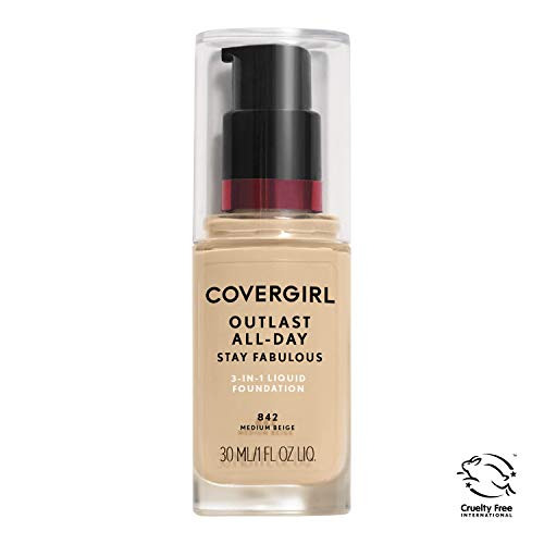 COVERGIRL - COVERGIRL Outlast All-Day Stay Fabulous 3-in-1 Foundation Medium Beige, 1 Ounce (packaging may vary)
