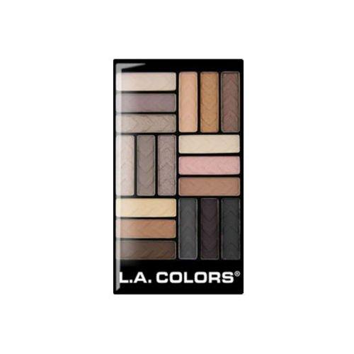 L.A. Colors - L.A. Colors 18 Color Eyeshadow Palette, Downtown Brown, 0.70 Ounce